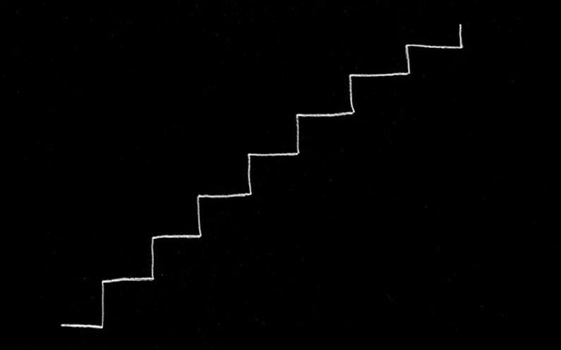 Performance über die Unwägbarkeiten des Treppensteigens