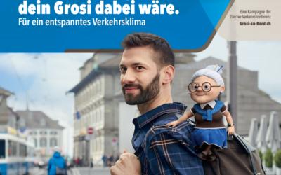 Neue Kampagne «Grosi an Bord», um das Verkehrsklima zu verbessern